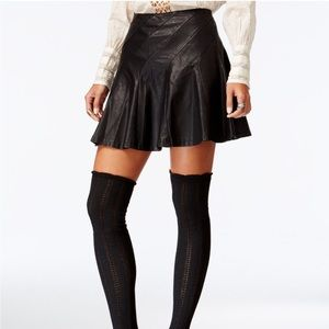 free people • about a girl faux leather mini skirt